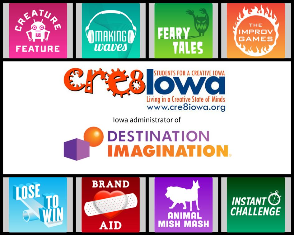 2015 cre8iowa & DI Logos